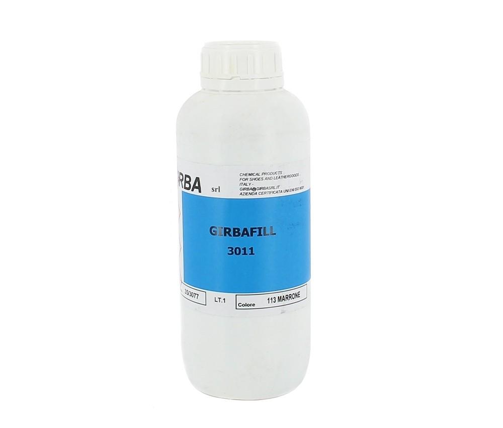 GIRBA-73 Подготовка и финишная отделки кожаных каблуков,GIRBAFILL.пл.фляга,1000 мл.(темно-кочичневы)