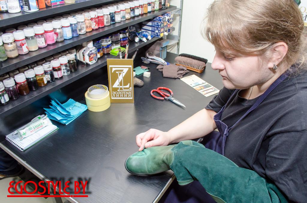 услуги по покраске и реставрации изделий из кожи